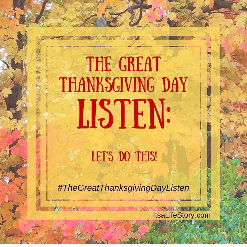 The GreatThanksgiving DayListen graphic
