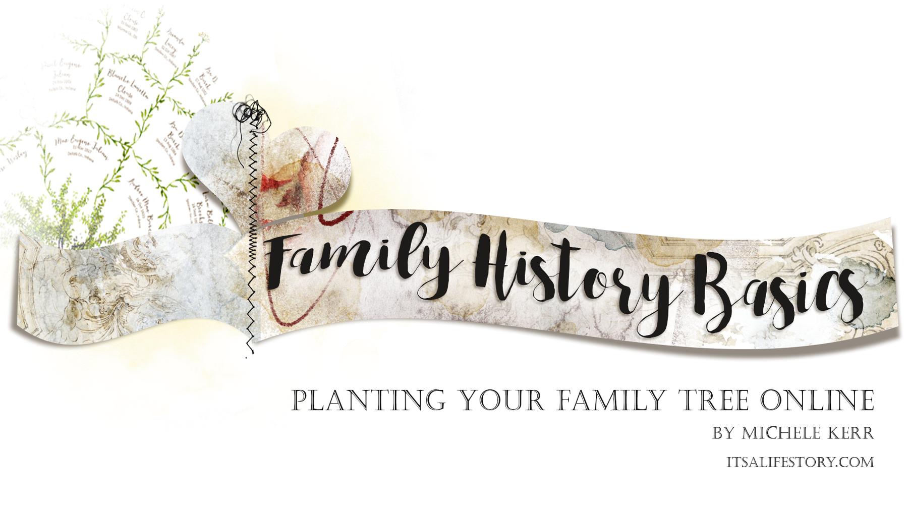 ItsALifeStory.com _ FAMILY HISTORY BASICS - Planting Your Family Tree Online
